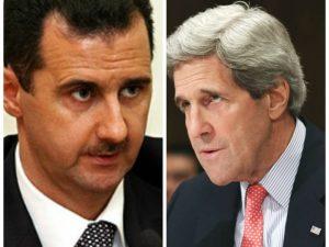 كيري والأسد